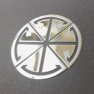 Custom metal name plate label nickel stickers with strong 3M adhesive glue metal logo nickel sticker for machine