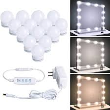 Led Vanity Lights Strip Kit with 14 Dimmable Light Bulbs