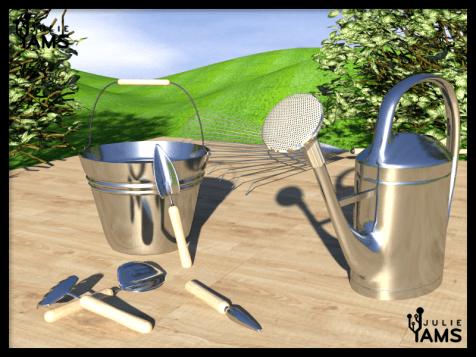 Modelisation et texturing d'outillage de jardin