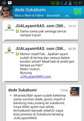 Testimonial Bapak Dede Sukabumi