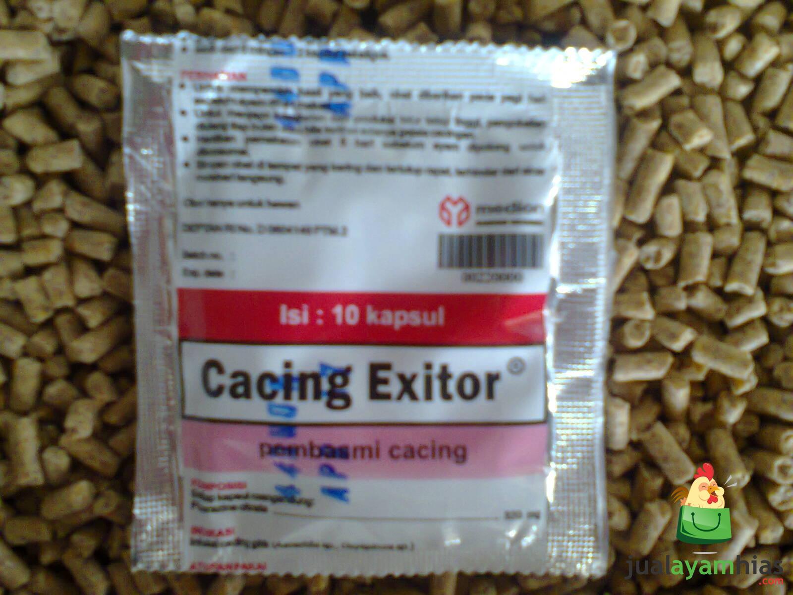 Obat Cacing Exitor dapat menyembuhkan ayam yang sedang sakit cacingan