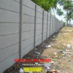 pagar beton cetak