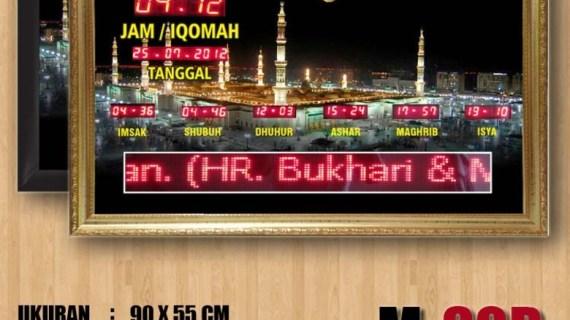 Jual jam digital masjid murah di bekasi timur
