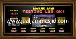 jual jam jadwal sholat digital masjid murah di cibubur timur