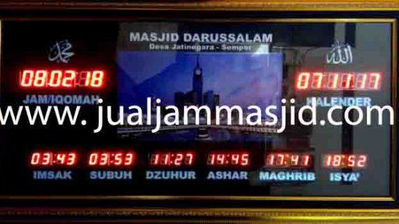 jual jam jadwal sholat digital masjid murah di karawang barat