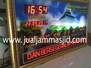 jual jam jadwal sholat digital masjid murah di karawang selatan