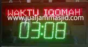 jual jam jadwal sholat digital masjid murah di pekayon bekasi