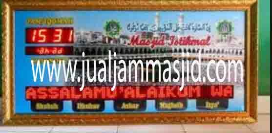 jual jam jadwal sholat digital masjid murah di tangerang timur