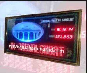 jual jam jadwal sholat digital masjid murah di tangerang utara