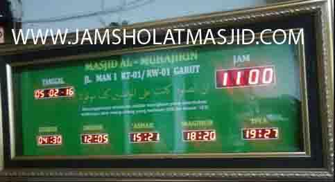 jual jam jadwal sholat digital masjid running text di kebayoran baru jakarta