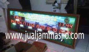 jual jam jadwal sholat digital masjid running text di tanah abang Jakarta