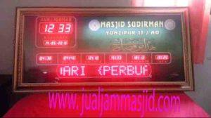 jual jam jadwal sholat digital masjid running text di cawang jakarta