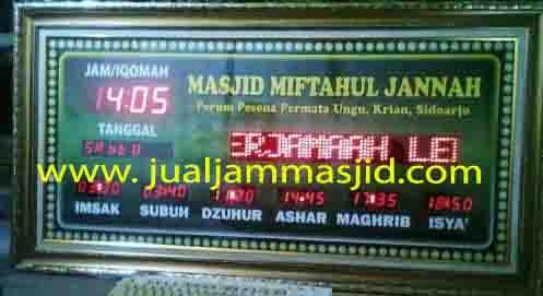 jual jam jadwal sholat digital masjid running text di rasuna sait jakarta