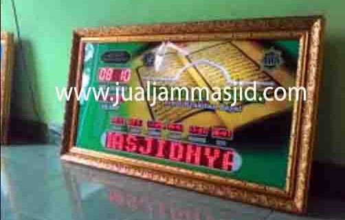 jual jam jadwal sholat digital masjid running text di pulau panggang jakarta