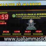 jual jam jadwal sholat digital masjid running text sukabumi jawa barat