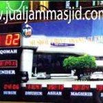 toko jam jadwal sholat digital masjid running text di mustika jaya