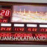 penjual jam jadwal sholat digital masjid running text di bekasi selatan