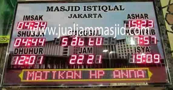 penjual jam jadwal sholat digital masjid running text di cikampek barat