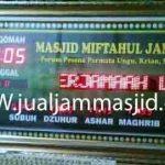 penjual jam jadwal sholat digital masjid running text di cikampek utara