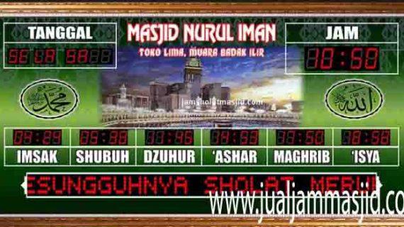 penjual jam jadwal sholat digital masjid running text di cikarang timur