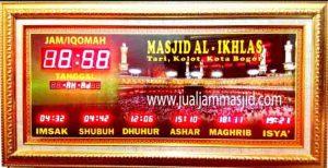 penjual jam jadwal sholat digital masjid running text di depok selatan