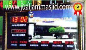 penjual jam jadwal sholat digital masjid running text di karawang timur