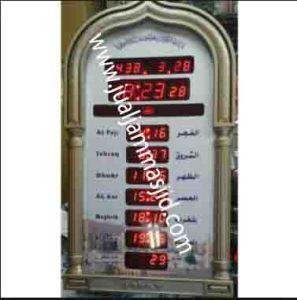 penjual jam jadwal sholat digital masjid running text di bandung pusat