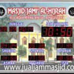 penjual jam jadwal sholat digital masjid running text di pekanbaru timur