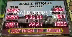 penjual jam jadwal sholat digital masjid running text di Jakasetia Bekasi