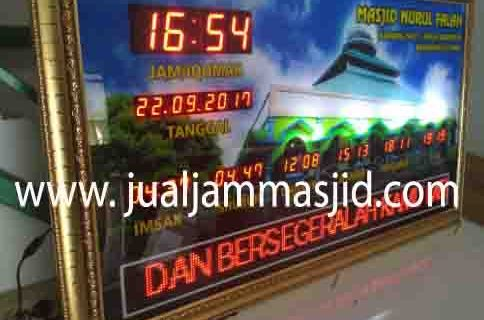 penjual jam jadwal sholat digital masjid running text di Margahayu bekasi