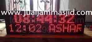 penjual jam jadwal sholat digital masjid running text di Perwira bekasi