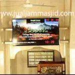 penjual jam jadwal sholat digital masjid running text di Harapan Mulya bekasi