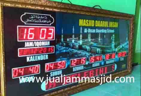 penjual jam jadwal sholat digital masjid running text di Kali Baru bekasi