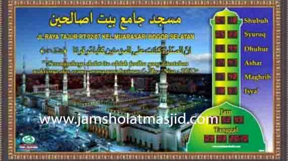 jual jam dinding digital untuk masjid di bekasi barat