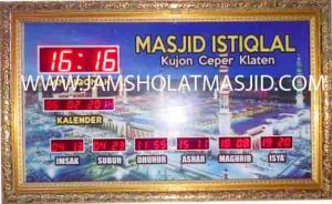 jual jam digital untuk masjid di bogor timur
