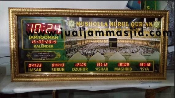 menjual jam jadwal sholat digital masjid running text di Jakasetia Bekasi