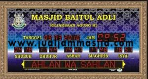 menjual jam jadwal sholat digital masjid running text di pekanbaru utara