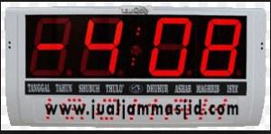 menjual jam jadwal sholat digital masjid running text di karawang selatan