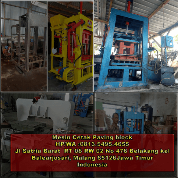 jual mesin paving block di Batu