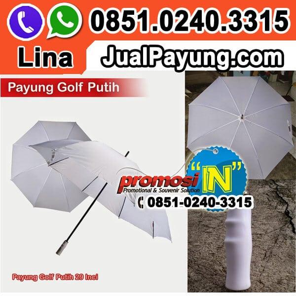 Jual Payung Golf Putih Polos Grosir Murah