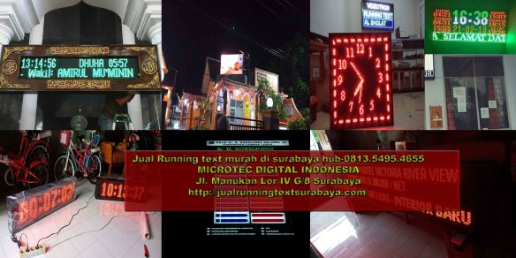 Jual running text di Mataram