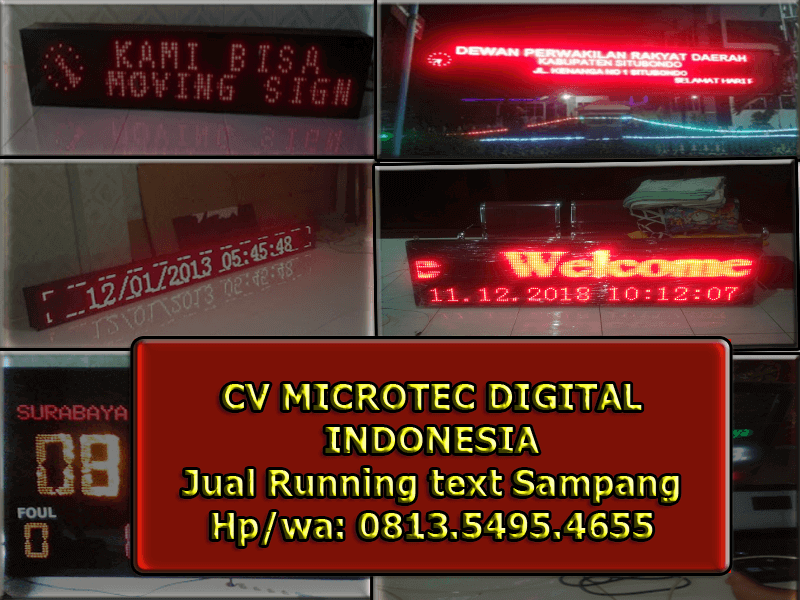 Running text atau Movingsign
