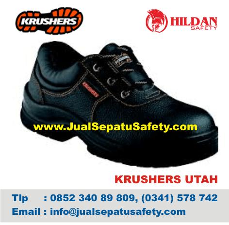 Jual Eceran Sepatu Safety Krushers UTAH Pendek Tali Online