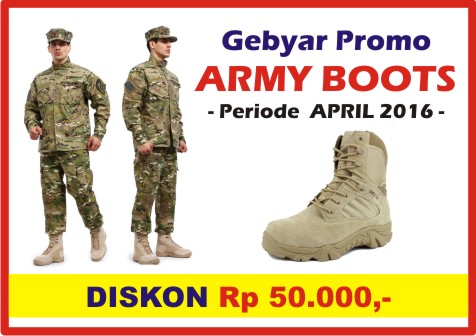 Slide Promo ARMY BOOTS, April 2016