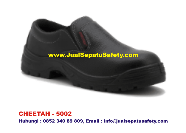 CHEETAH 5002 Sepatu Safety Shoes Pendek Slip On,HP.0852 340 89 809