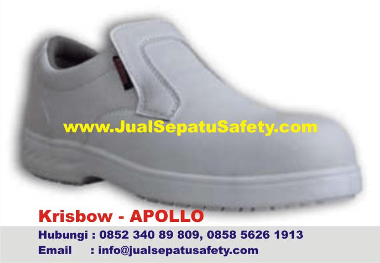 Krisbow Apollo-Sepatu Safety Wanita Warna Putih Pendek, HP.0852 340 89 809