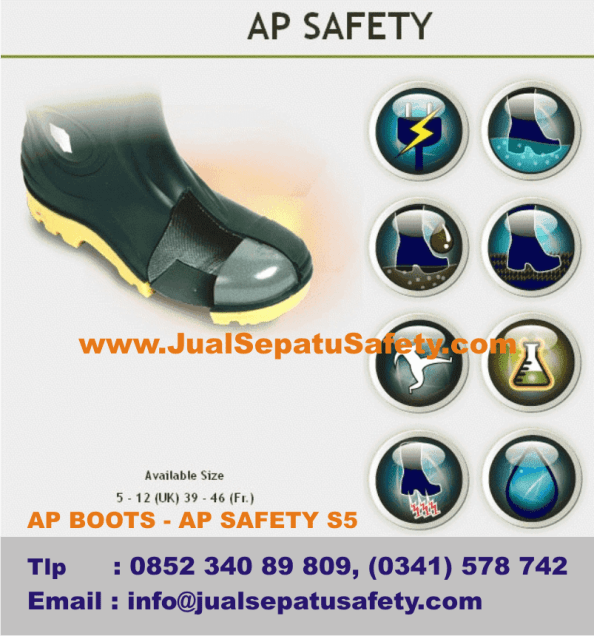 Gambar AP BOOTS Safety Toe Cap