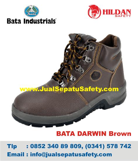 Gambar Sepatu Safety Shoes BATA-DARWIN Brown
