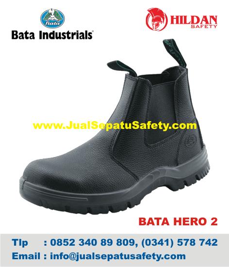 Grosir Sepatu Safety Shoes BATA-HERO 2 Black