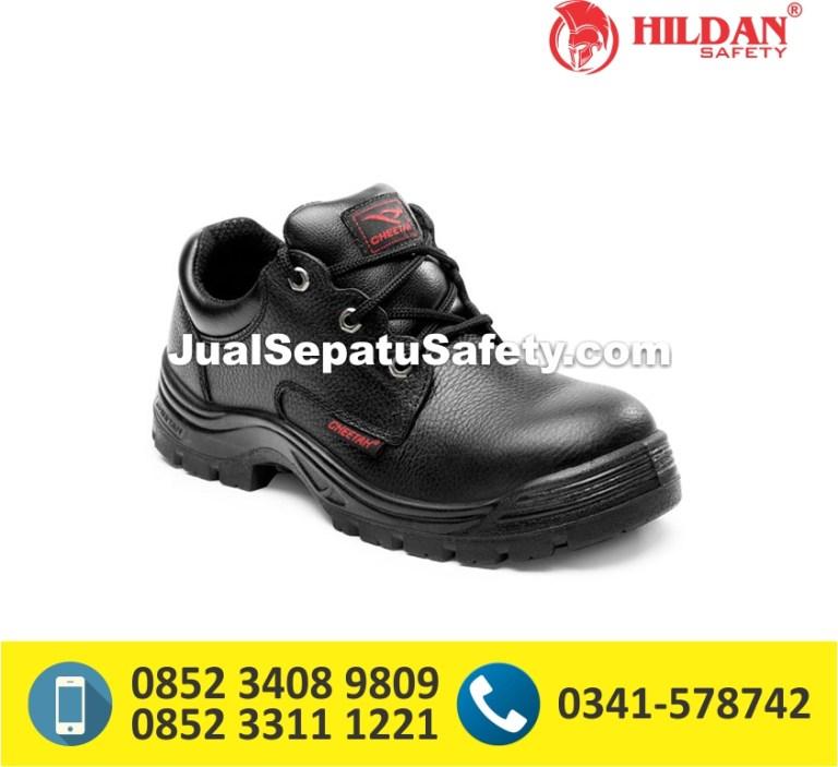 Sepatu Safety Shoes CHEETAH 3002 Pendek Tali Berlubang